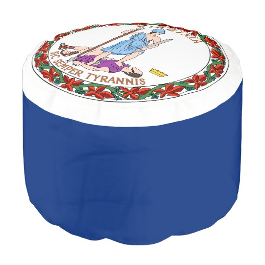 Virginia Flag Pouf