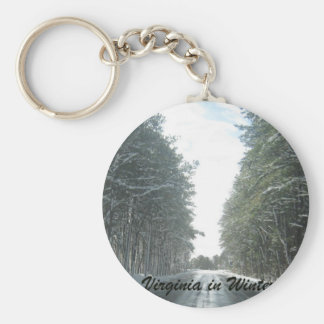 Virginia  in Winter Basic Round Button Keychain