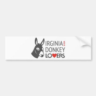 Virginia is for Donkey Lovers Bumper Sticker
