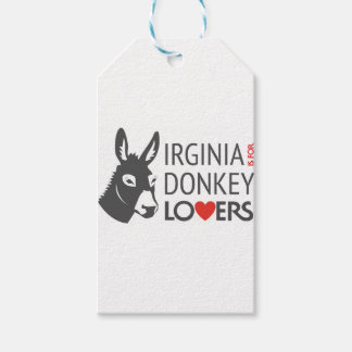 Virginia is for Donkey Lovers Pack Of Gift Tags