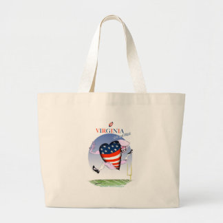 virginia loud and proud, tony fernandes large tote bag