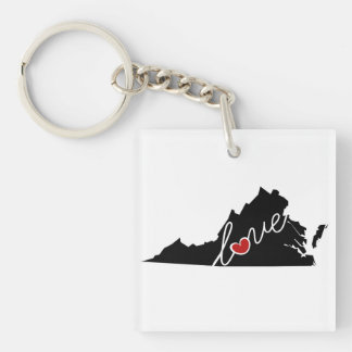 Virginia Love!  Gifts for VA Lovers Keychain