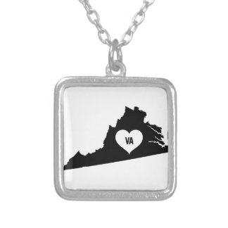 Virginia Love Silver Plated Necklace