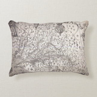 Virginia Map, 1612 Accent Pillow