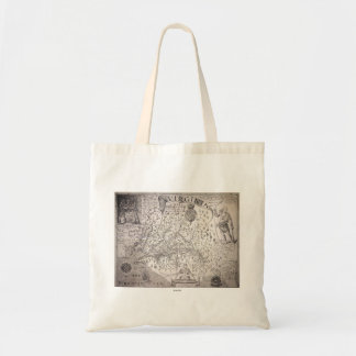 Virginia Map, 1612 Budget Tote Bag