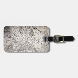Virginia Map, 1612 Luggage Tags
