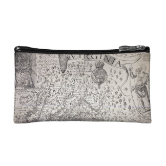 Virginia Map, 1612 Makeup Bags