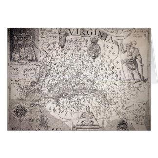Virginia Map, 1612 Note Card