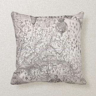 Virginia Map, 1612 Throw Pillow