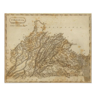 Virginia Map by Arrowsmith Poster