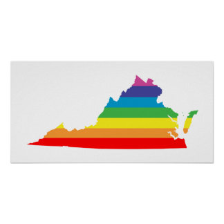 virginia rainbow poster