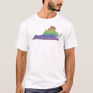 Virginia Rainbow Pride Flag Mosaic For Him T-Shirt