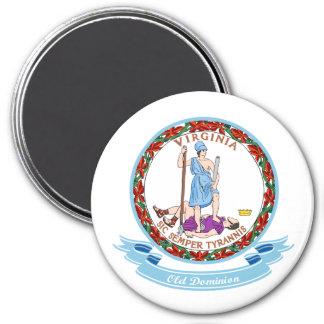 Virginia Seal 3 Inch Round Magnet