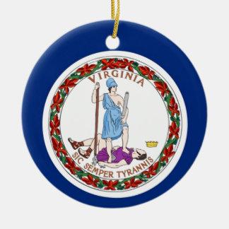 Virginia State Flag Ceramic Ornament