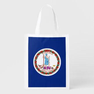 Virginia State Flag Design Grocery Bag