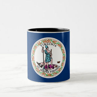 Virginia State Flag Two-Tone Coffee Mug