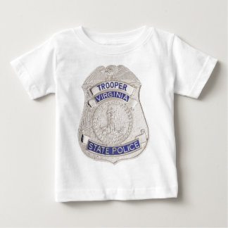 Virginia State Trooper Police Badge Baby T-Shirt