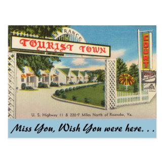 Virginia, Tourist Town, Roanoke Postcard
