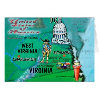 Virginia West Virginia USA Card