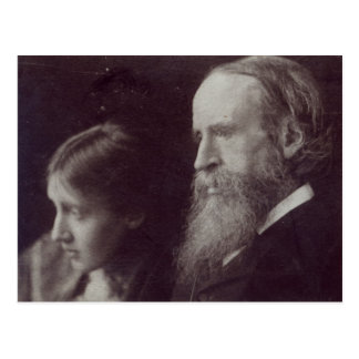 Virginia Woolf and her father Sir Leslie Postcard