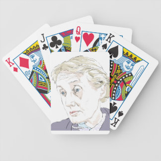 Virginia Woolf Bicycle Playing Cards