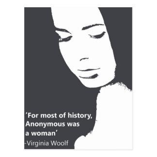 Virginia Woolf quote Postcard