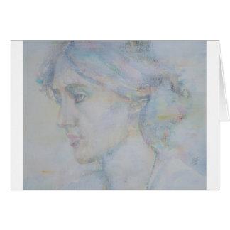 virginia woolf - watercolor portrait.1 card