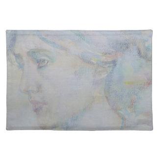 virginia woolf - watercolor portrait.1 placemat