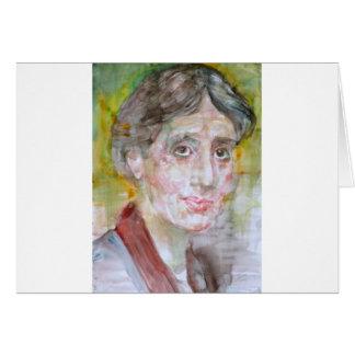 virginia woolf - watercolor portrait.2 card