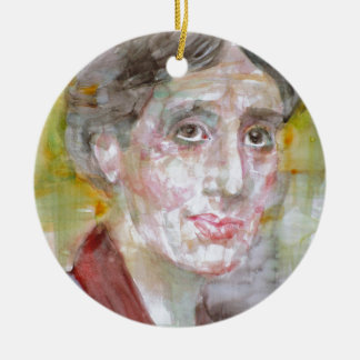 virginia woolf - watercolor portrait.2 ceramic ornament