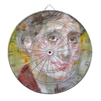 virginia woolf - watercolor portrait.2 dartboard