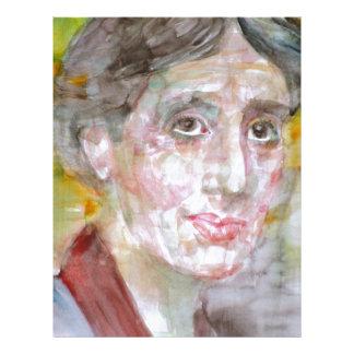 virginia woolf - watercolor portrait.2 letterhead