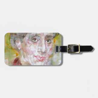virginia woolf - watercolor portrait.2 luggage tag