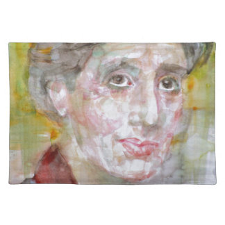 virginia woolf - watercolor portrait.2 placemat