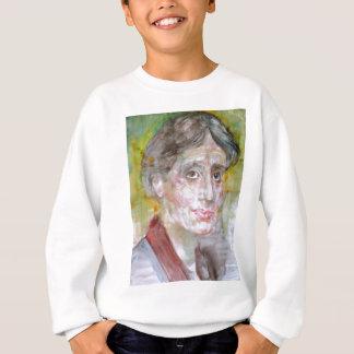 virginia woolf - watercolor portrait.2 sweatshirt
