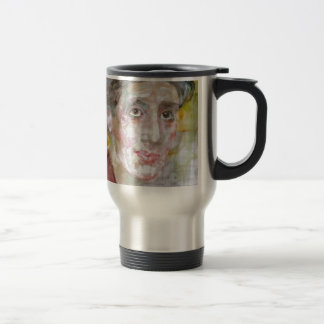virginia woolf - watercolor portrait.2 travel mug