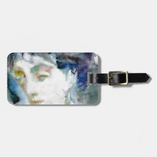 virginia woolf - watercolor portrait.3 bag tag