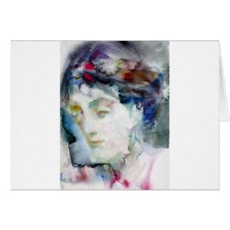 virginia woolf - watercolor portrait.3 card