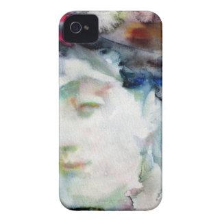 virginia woolf - watercolor portrait.3 iPhone 4 cases