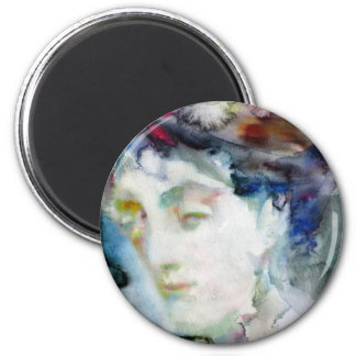 virginia woolf - watercolor portrait.3 magnet