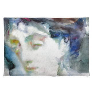 virginia woolf - watercolor portrait.3 placemat