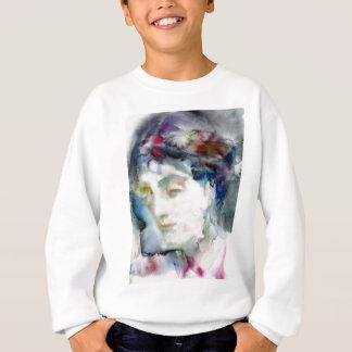 virginia woolf - watercolor portrait.3 sweatshirt