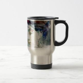 virginia woolf - watercolor portrait.3 travel mug