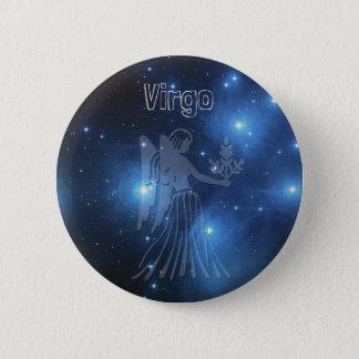 Virgo 2 Inch Round Button