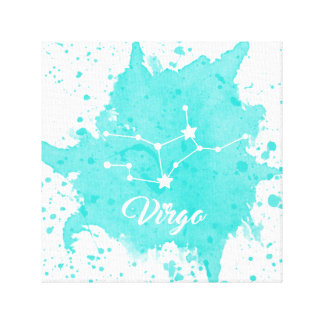 Virgo Blue Wall Art