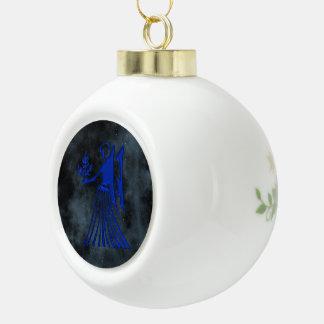 Virgo Ceramic Ball Christmas Ornament