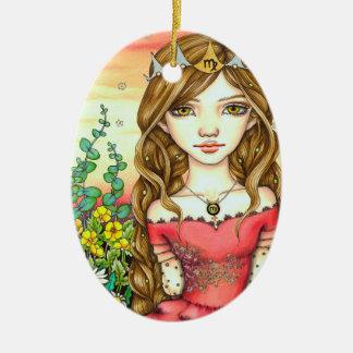 Virgo Ceramic Ornament