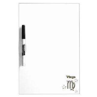 Virgo chrome symbol dry erase board