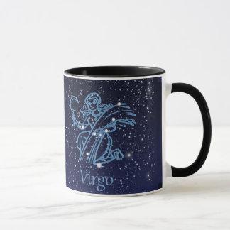 Virgo Constellation and Zodiac Sign with Stars Mug