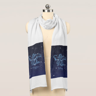 Virgo Constellation and Zodiac Sign with Stars Scarf